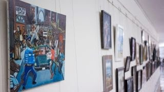 Democrats rehang controversial painting