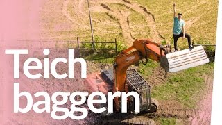 Teichbau 2.0 – Riesen Bagger, Feuerwehreinsatz & Schlägerei | Kliemannsland