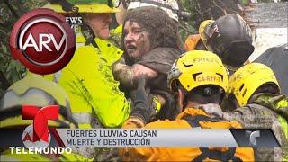 Lluvias y deslaves dejan cinco muertos en California | Al Rojo Vivo | Telemundo
