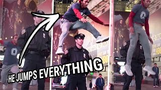 He Jumped Over A NYC Cop & Wayyy More! You Need To See Dexton