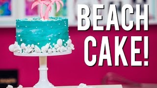 How To Make COCONUT BEACH CAKE With COCONUT CAKE, Buttercream, LEMON CURD and SUGAR SAND!