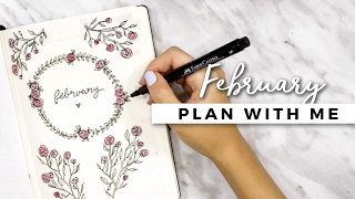 PLAN WITH ME | February 2017 Bullet Journal Setup