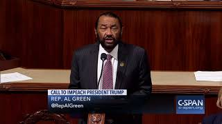 Rep. Al Green Impeachment Resolution Against President Trump (C-SPAN)