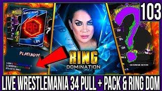 NIA JAX RING DOM + LIVE WRESTLEMANIA 34 PULL & PLATINUM PACK! #WWESUPERCARD S4 #103