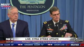 "FULL: ""Mad Dog"" Mattis Gives Update To Syria Strikes. Warns Assad Of Future Attacks"