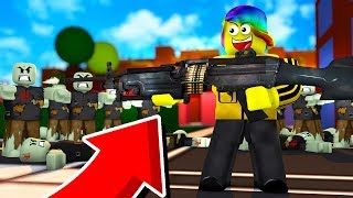 USING THE STRONGEST GUN AND DESTROYING ZOMBIES (Roblox Zombie Killing Simulator)