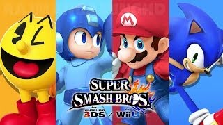 Super Smash Bros Wii U - Pac-Man vs Mega Man vs Mario vs Sonic Gameplay [1080p] TRUE-HD QUALITY
