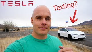 Can you Text and Drive a Tesla at the Same Time?