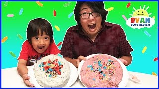 Cake Challenge Parent vs Kid Family Fun Activities with Ryan ToysReview