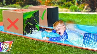 DONT Water Slide Through the WRONG MYSTERY BOX! 💥 (HILARIOUS!)