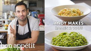 Andy Makes Ramen Two Ways | From the Test Kitchen | Bon Appétit