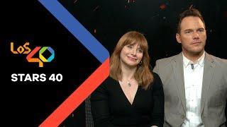 Jurassic World 2: Bryce Dallas Howard se entera por LOS40 que Chris Pratt fue stripper