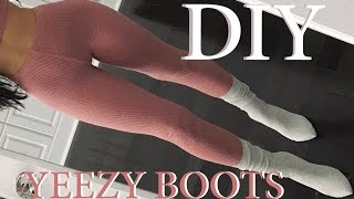 DIY | YEEZY INSPIRED SOCK BOOTS | Carli Bybel