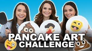 Pancake Art Challenge with Rosanna Pansino - Merrell Twins