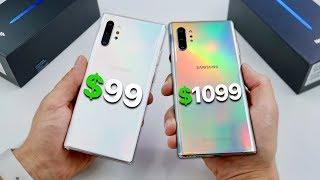 $99 Fake Samsung Galaxy Note 10 Plus vs $1099 Note 10 Plus!