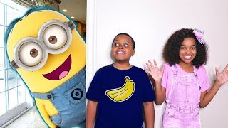 Bad Baby Minions ATTACK! Evil Minion Banana Costume - Shasha And Shiloh - Onyx Kids