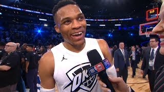 Russell Westbrook Postgame Interview / Team LeBron vs Team Stephen