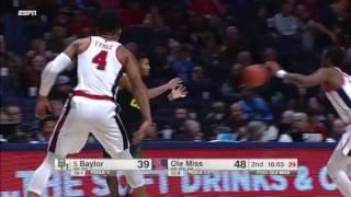 Ole Miss vs Baylor Basketball Highlights 1-28-17