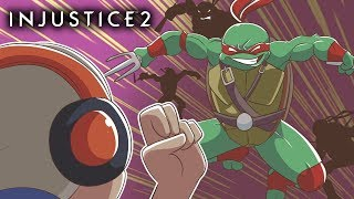 MAH BOYS!!! THE TURTLES ARE HERE!! [INJUSTICE 2] [TMNT DLC]