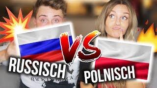 POLNISCH vs. RUSSISCH - Sprachen Challenge EXTREM 💥 mit meinem VERLOBTEN | Dagi Bee