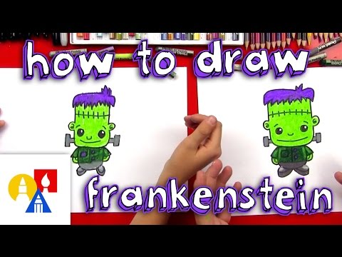 How To Draw Halloween Girl Frankenstein S Monster Learn To Draw