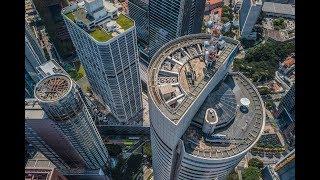 Singapore Skyline Aerial