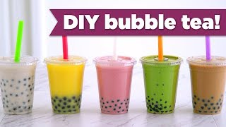 DIY Boba / Bubble Tea! Healthy Recipes - Mind Over Munch