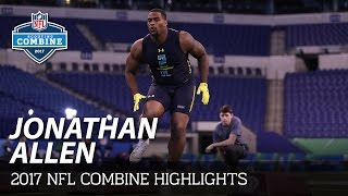 Jonathan Allen (Alabama, DL) | NFL | 2017 NFL Combine Highlights