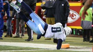 Marcus Mariota Insane Touchdown Pass to himself   NFL Wild Card Titans VS Chiefs
