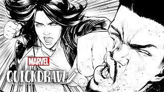 Watch the Defenders come to life - Marvel Quickdraw