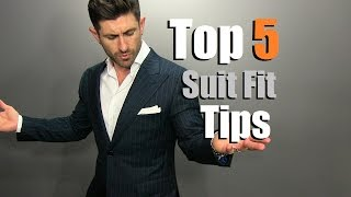 TOP 5 Suit Fit Tips   How To Buy A PERFECT Fitting Suit Online
