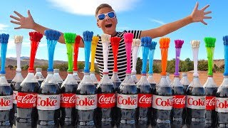 COKE AND MENTOS VS INSANE WATER BALLOONS EXPERIMENT!