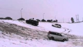 Off road snow! Audi A4 quattro VS Hummer Vs Pajero VS Cr V Vs Rodeo 1