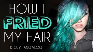 How I fried my hair & Guy Tang vlog