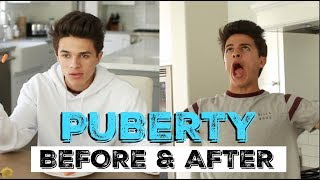 PUBERTY: BEFORE & AFTER | Brent Rivera