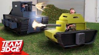 Epic Mini Tank Battle!   Destroy the Giant Tank!!