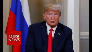 Trump-Putin summit: Trump arrives at palace - BBC News