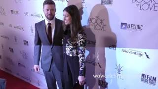 Justin Timberlake and Jessica Biel at the premiere of The Book Of Love in Hollywood