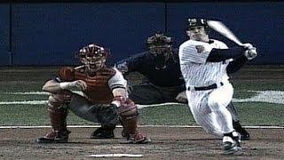 1996 WS Gm6: Girardi triple gives Yankees 1-0 lead