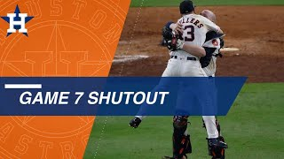 Astros pitchers keep Yanks off the board to clinch AL