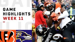 Bengals vs. Ravens Week 11 Highlights | NFL 2018