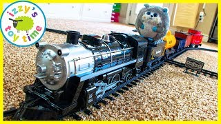 BIGGEST STEAM TRAIN TOY EVER?! Fun Toy Trains with MR. FUZZY