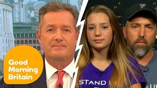 Piers Morgan Argues With Trophy-Hunting 12-Year-Old Girl And Her Father   Good Morning Britain