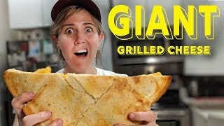 How to Make a GIANT Grilled Cheese