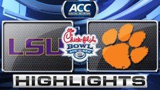 Chick-fil-A Bowl 2012: LSU vs Clemson Highlights