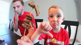 FATHER & SON EAT BUGS!