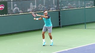 Roger Federer Forehand in Slow Motion - Indian Wells ATP (HD)