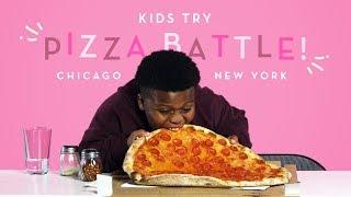 Kids Try Pizza Battle! New York Thin Crust vs. Chicago Deep Dish | Kids Try | HiHo Kids