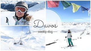SKIFAHREN LERNEN  in DAVOS / SCHWEIZ - Travel Vlog