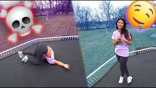 TEACHING HER HOW TO DO A BACKFLIP!